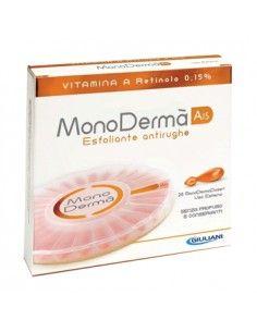MonoDermà A15 Esfoliante antirughe - Vitamina A Retinolo 0,15% 28 Soft Vegicaps da 0,5 ml (MonoDermoDose uso esterno)