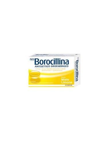 Neoborocillina Antisettico Orofaringeo 20 Pastiglie Miele e Limone