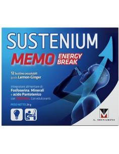 Sustenium Memo - Energy Break Confezione da 12 bustine. Peso netto: 24 g