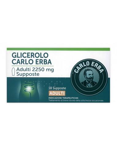 Glicerolo Carlo Erba Adulti 18 Supposte 2250mg
