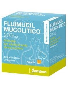 Fluimucil Mucolitico 30 Bustine Senza Zucchero 200mg