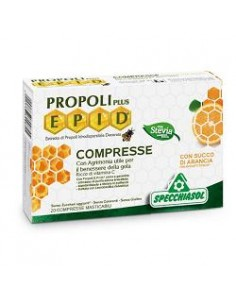 Propoli Plus Epid - Specchiasol Confezione da 20 compresse con succo di arancia con estratti titolati