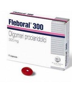 Fleboral 300 Capsule - Integratore Alimentare Gambe Pesanti Confezione da 5 capsule in blister