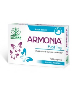 Armonia ® Fast - Melatonina a rilascio immediato Confezione da 120 compresse da 1 mg di melatonina a rilascio immediato