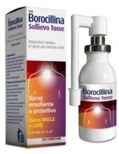 Neo Borocillina Sollievo Tosse - Spray Emolliente e Protettivo Flacone da 20 ml