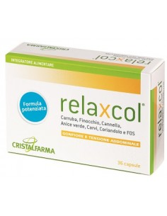 Relaxcol - Integratore Gonfiore e Tensione Addominale Astuccio da 36 capsule da 616 mg