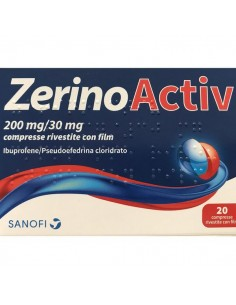 ZERINOACTIV 200 MG/30 MG COMPRESSE RIVESTITE CON FILM