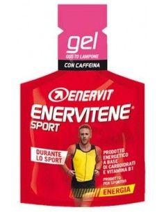 Enervitene Sport con Caffeina - Gel Energetico Carboidrati e Vitamine Minipack da 25 ml GUSTO LAMPONE con Caffeina