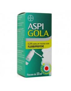 Aspi Gola - Mal di Gola Spray da 15 ml, aroma menta