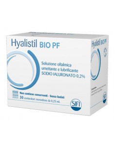 HYALISTIL BIO SOLUZIONE OFTALMICA PHOSPHATE FREE 30 FLACONCINI 0,25 ML