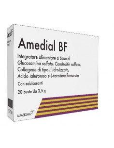 Amedial BF ® Glucosamina, Condroitina, Collagene e Acido Ialuronico Astuccio con 20 bustine da 3,5 g cad.