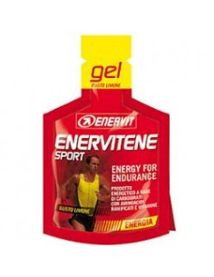 Enervitene Sport Gel Energetico Carboidrati Vitamine GUSTO LIMONE - 1 Minipack da 25 ml